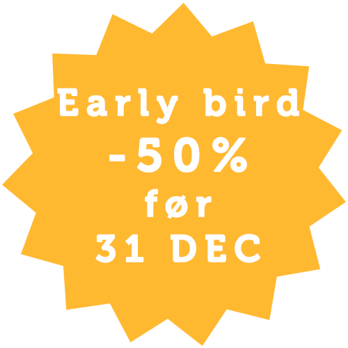 Early bird sign up dansk